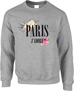 Tim And Ted J'Adore Paris Flowers Watercolour Pretty Beatiful Feminine Girly Her Slogan Social Media Fashion Novelty Unise...