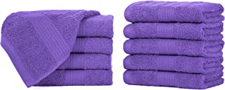Ample Decor Classic Luxury Quick Dry Washcloths Pack of 10 - Hotel Spa Collection | 100% Cotton Super Soft High Absorbent ...