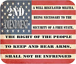 Patriotic 2nd Amendment USA Flag Mouse Pad Mat Mousepad for Laptop PC Gaming Home or Office