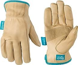 Women's Water-Resistant Leather Work Gloves, HydraHyde, Medium (Wells Lamont 1167M), Tan