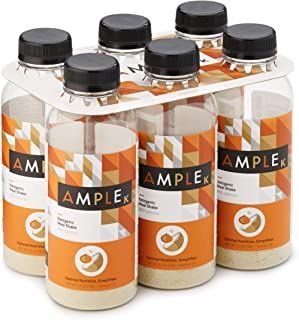 Ketogenic Meal Replacement Shake with only 3g Net Carbs in a Bottle, (Pack of 6) Meals, Regular 400 Calories, Made with Natural Real Food Ingredients. Ketogenic Formula