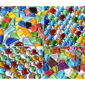 Softglas- Mosaiksteine Glitzer 1x1cm Buntmix Glitter Mosaik ca 85g 4,69 /€//100 g 100 St