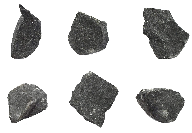 6PK Raw Basalt Igneous Rock Approx. 1