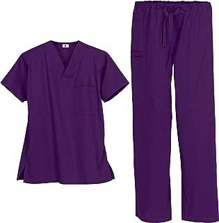 natural uniforms unisex scrub set