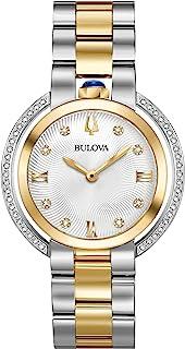 Bulova - Rubaiyat - Reloj de pulsera para mujer (dos tonos, oro amarillo y acero inoxidable), color dorado