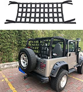 BESTAOO Cargo Net for Jeep, Jeep Wangler Cargo Restraint Net System Trail Cargo Net for Jeep Wrangler JK TJ - Black