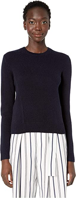 Seam Front Crew Sweater