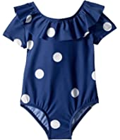 mini rodini - Dot Short Sleeve Swimsuit (Infant/Toddler/Little Kids/Big Kids)