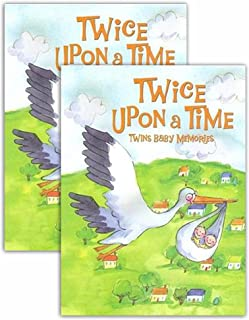 Best Seller! Twice Upon A Time Twins Baby Memory Books (Hardcover - Set of 2)
