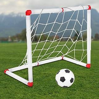 Fotbollsmål, träning, aktiv förmåga, lyhördhet, rundad plastkant, bekvämt för att lagra barns fotbollsmål, för barn,