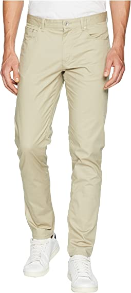 Calvin Klein Five-Pocket Micro Herringbone Pants