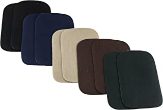 SINGER 00091 Iron-On Twill Patches, Assorted Dark Colors, 2-Inch x 3-Inch, 10-Count