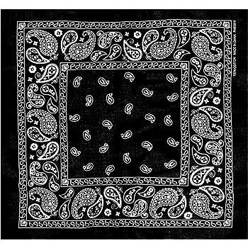 L&M 12Pcs Bandanas 100% Cotton Paisley Print Head Wrap Scarf Wristband