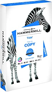 Hammermill Printer Paper, 20 lb Tidal Copy Paper, 8.5 x 14-1 Ream (500 Sheets) - 92 Bright, Made in the USA
