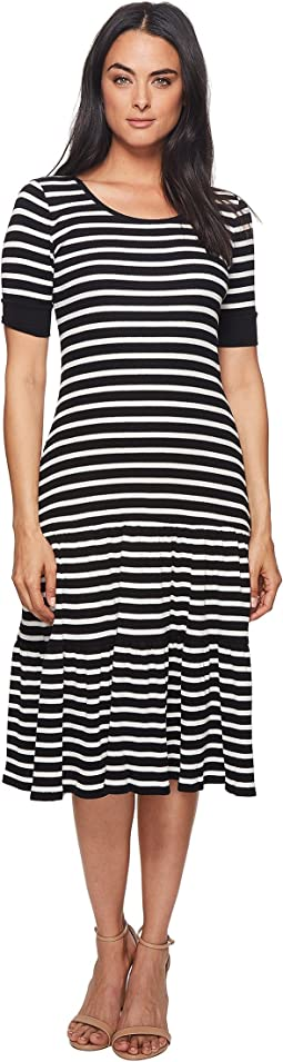 LAUREN Ralph Lauren Striped Waffle-Knit Cotton Dress