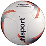 Uhlsport Revolution Thermobonded Fussball weiß/Marine/Fluo rot