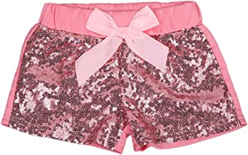 Baby Girls Shorts Toddlers Sequin Bow Pants Boutique Clothing