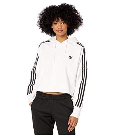 adidas Originals Cropped Hoodie (White/Sun) Women