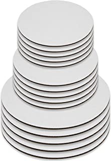 Upper Midland Products Cake Boards - Set of 15 White Cake circle bases - 6 inches, 8 inches, and 10 inches, 5 of each… (15)