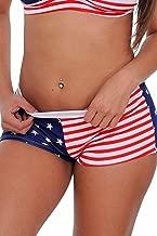 Women's Juniors Hot Shorts USA Flag Bikini Beach Swimwear