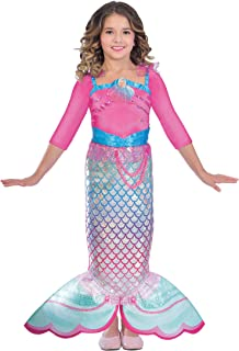 Amscan Girls' Costume Barbie Rainbow Mermaid, 5-7 Years, Multi-Colour