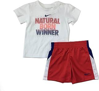 e5547821c00ae Nike Infant Boys Natural Born Winner 2 pièces Tee Shirt et Short Ensemble  université Rouge Taille