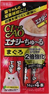 チャオ (CIAO) 猫用おやつ エナジーちゅ~る まぐろ 14g×4本入×6個 (まとめ買い)