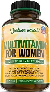 Sponsored Ad - Women's Multivitamin Supplement. Vitamins A C D E & Vitamin B Complex. Immune & Female Support + Antioxidan...