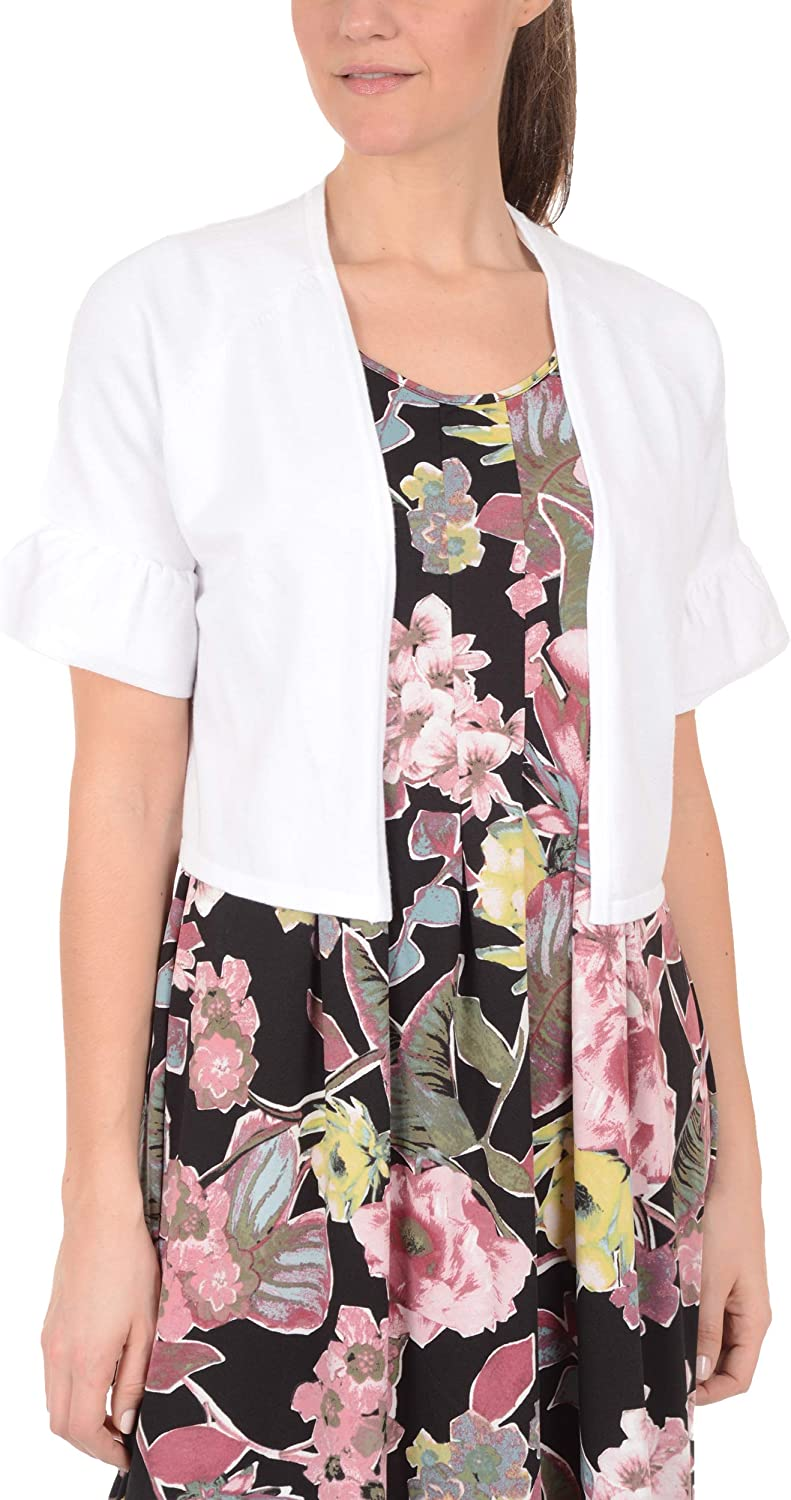 NY Collection Short Bell Sleeve Shrug