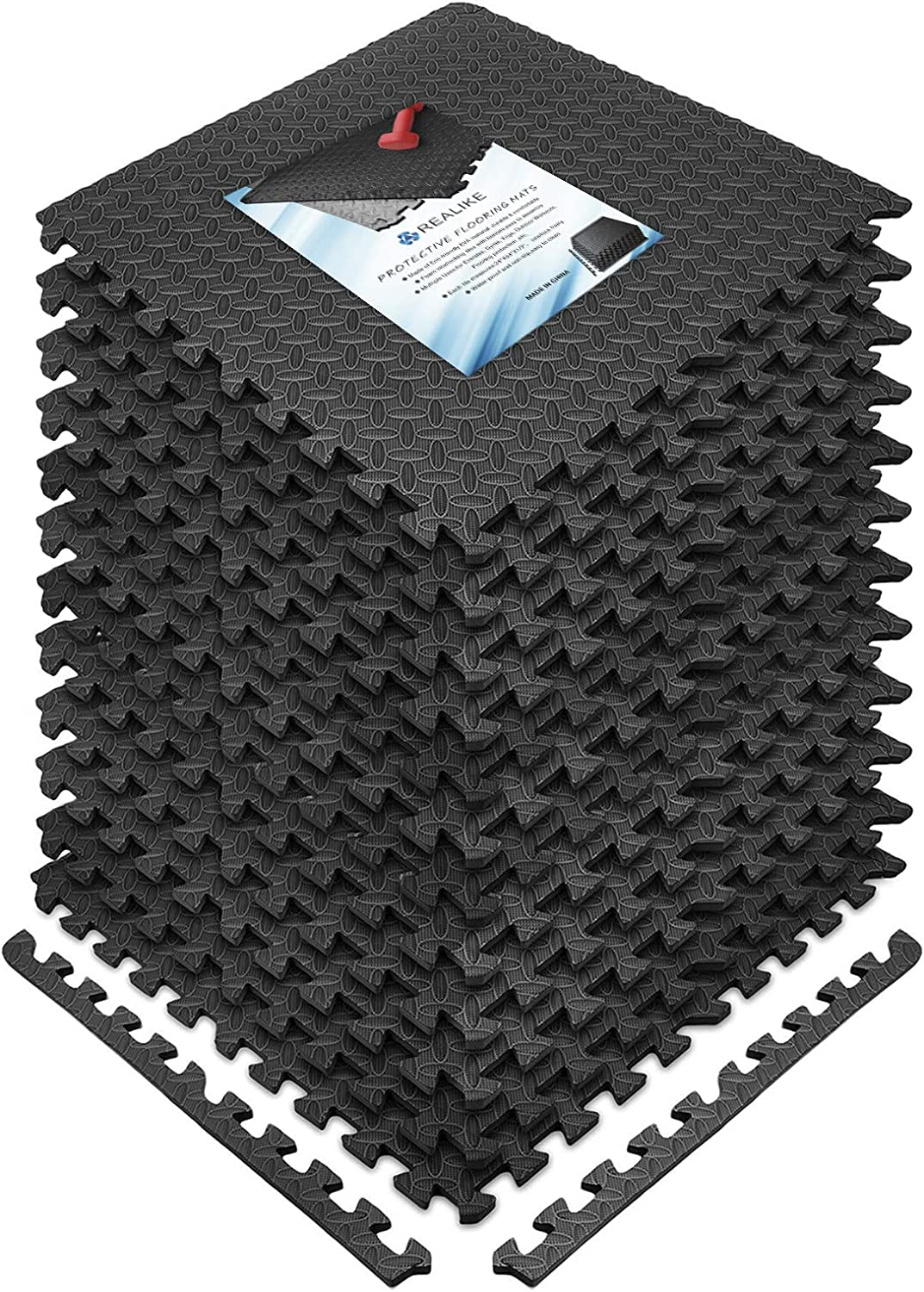 REALIKE Multipurpose Exercise Mat Gym EVA Foam Flooring At the price of surprise In Sales results No. 1
