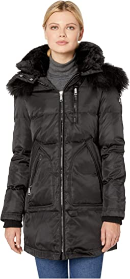Heavy Weight Down with Sherpa and Faux Fur Detail R1241