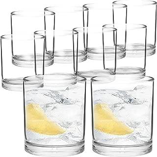 Youngever 8 Pcs Premium Quality Plastic Drinking Tumblers, Plastic Glasses, Reusable Plastic Cups, Unbreakable Glasses, Drinking Glasses (12 ounce)