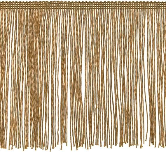Expo International 10 Yards of 6 Chainette Fringe Trim 10 yd x 6 Cinnamon