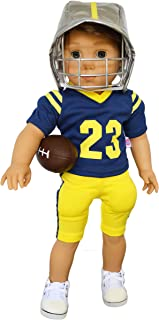 Brittany's Michigan Football Outfit Compatible with American Girl Boy Dolls- 18 Inch Boy Doll Clothes- Logan is not Included