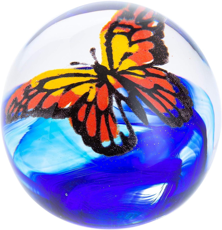 Caithness Glass U19093 海外並行輸入正規品 Butterfly Flight Paperweig Monarch 日本未発売 of the