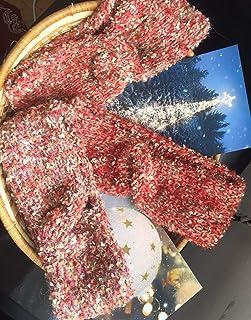 Diadema, colores rojos-burdeos, retorcida, para chicas o mujeres, turbante de punto, calentador de orejas de punto, regalo...