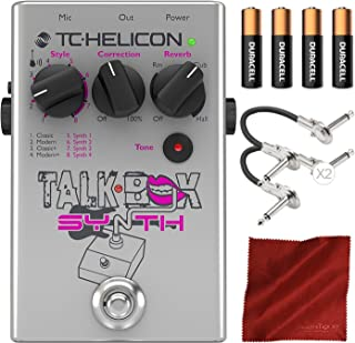 TC Helicon Talkbox Synth Electric Guitar Pedal for Singers with Cables and Basic Bundle