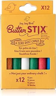 Jaq Jaq Bird Butterstix Non-Toxic, Dust-Free Chalk (12 Count) (Colors)