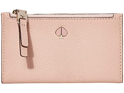 Kate Spade New York Polly Small Slim Bifold (Flapper Pink) Wallet Handbags