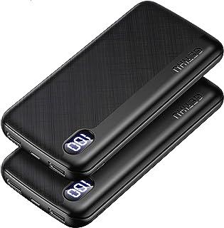 GETIHU モバイルバッテリー 【2個セット】 軽量USB C急速充電 大容量 10000mAh LEDディスプレイ残量表示 スマホ充電器 携帯バッテリー iPhone 12 11 Pro XS iPad Airpods Xperia And...