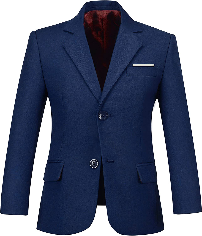 Plsily Boys Blazer Formal Dress Wedding Boy Jacket Suits