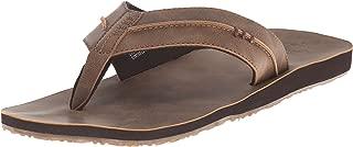 Reef Men's Sandals Marbea SL   Vegan Leather Flip Flops for Men, Tan, 14