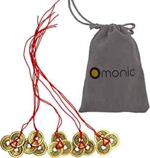 Omonic 5 Pack of 3 Coins Set Handmade Vintage Authentic Chinese Lucky Feng Shui Products..