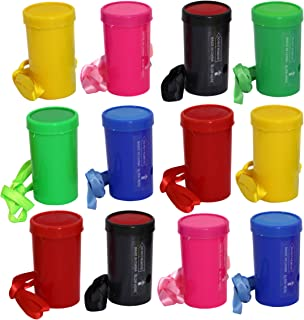 Air Blaster Horns In Assorted Colors Fun Stadium Noisemakers - 3 Inch Mini Air Horn Whistles (Pack of 12)