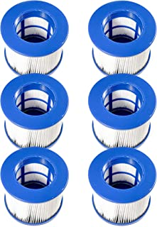 ALEKO 6HTFL Water Filter Cartridge for Inflatable Hot Tub Spa Blue Lot of 6