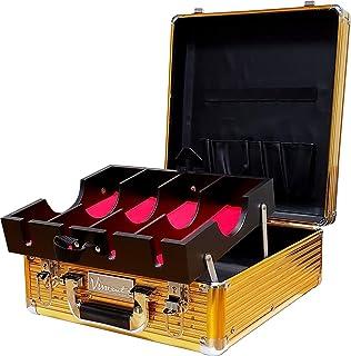 Vincent Master Case Travel Stylist Barber Case (Medium, Gold)