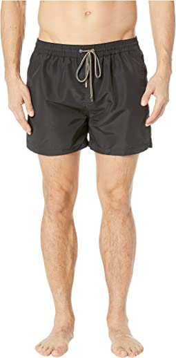Men's Clothing Creative Mens Hugo Boss Swim Shorts Large L White With Black Writing And Stitching