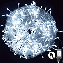 String Lights,Vofler Plug in 300 LED 100 ft/30M [UL Listed] [Weatherproof] [8 Modes] Decorative Lighting for Bedroom Patio Indoor Outdoor Home Kids Room Christmas Xmas Tree Holiday Party-Cool White