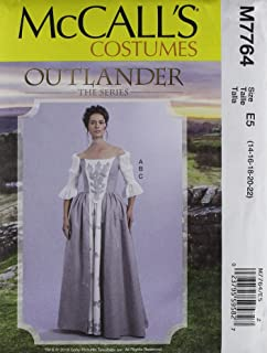 McCall's Patterns M7764 E5 Misses' Top and Skirts from Outlander: The Series, Size 14-22