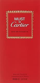 Must De Cartier By Cartier For Women. Eau De Toilette Spray 3.3 oz (Packaging may vary)